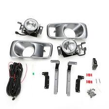 Clear Fog Light Set For 1999-2000 HONDA Civic Sedan Coupe w/Bezel Switch Wiring