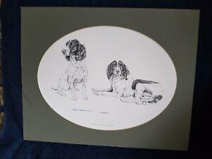 Derek E. Homden Spaniels Print Signed And Numbered