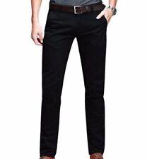 Pantaloni da uomo chino, kaki in misto cotone slim