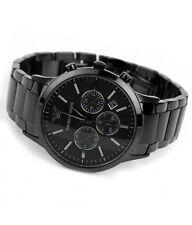 Authentic Emporio Armani AR-2453, Full Black Steel Men's Chronograph Watch