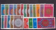 GUERNSEY 1979-1983 DEFINITIVE COINS STAMP SET MNH SG 177-198