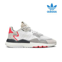 ADIDAS NITE JOGGER WHITE SHOCK RED F34123 NEW ON SALE 100% AUTHENTIC