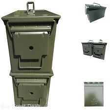 Ammo Can 50 Caliber Military Box Case Container M2A1 Waterproof Gasket Pack of 2