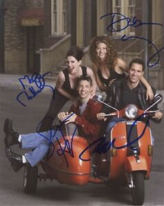 New Art Print of Autographed Celebrity Photo 8 1/2 X 11 Will & Grace Cast