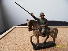 Lineol, Elastolin, Hauser Massefigur   7,5 cm Soldaten  Reiter auf Pferd