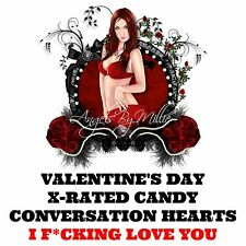 Valentines Day Candy Love You Heart Box Funny Messages Love Romance Bae Red 1.5
