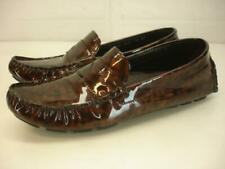 Women's 9.5 B M Cole Haan Air Trillby Tortoise Patent Leather Driver Shoe Loafer