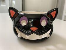 Yankee Candle Halloween  Black Cat Jar Holder 2012~NWT
