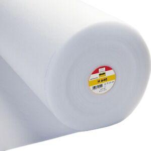 Vilene Iron-on fusible Volume Fleece H640 - White - 90cm Wide - Volume Discounts