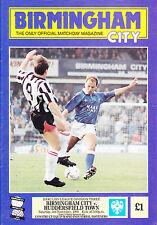 Birmingham City v Huddersfield Town 90-91 de la Liga Match