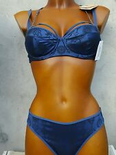 MARLIES DEKKERS soutien gorge 85B+slip S gibson blue avec étiquette val 195euros