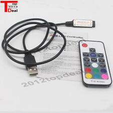 5-24V USB LED RGB Controler Mini 3Key set and 17Key RF set for USB LED Strip