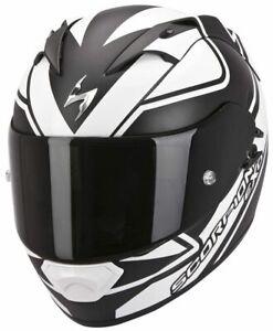 Scorpion Motorrad Integralhelm EXO-1200 Air schwarz weiß Dekor Größe XXL
