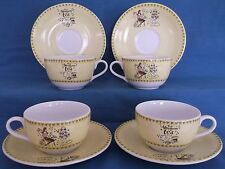 WHITTARD OF CHELSEA AFTERNOON TEA CUPCAKE HEAVEN LARGE CUPS SAUCERS TEA SET