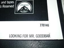 LOOKING FOR MR. GOODBAR, nr mint orig 1-sht / movie poster (Diane Keaton) - 1977