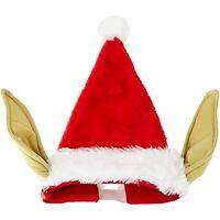 Star Wars Kurt Adler 17-Inch Plush YODA SANTA HAT w/ Bendable Ears~Christmas