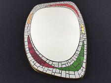 50s France MidCentury Ceramic Mosaic Tile Wall Mirror Cloutier Martz Era Wormley