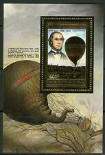 Burkina Faso Haute Volta Ballon Mongolfière Gold Foil Or 1983 Michel Bloc 67 A