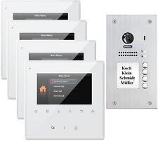 """4 Families 2 Wire 4 """" Video Door Phone Intercom 2.0 Megapixel Camera"""