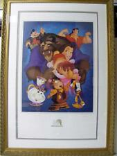 DISNEY BEAUTY & THE BEAST 10TH ANNIV SIGNED LITHOGRAPH DON DUCKY WILLIAMS 34/250