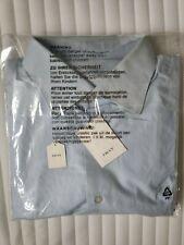 FRAY Italy mens Dress shirt blue spread collar alumo Giza cotton 17.75/45 XL-XXL