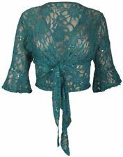 Damenblusen, - tops & -shirts im Bolero Normalgröße-Stil mit Spitze