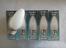 PACK OF TEN (10) Crompton Candle Lamps In OPAL - 25W ES-E27 OLD TYPE LIGHT BULBS