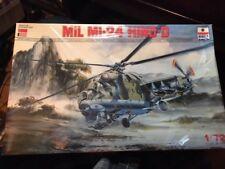 ESCI/ERTL 1/72 MIL MI-24 HIND-D W/NICARAGUAN+USSR DECALS, SHRINKWRAPPED,1980s !
