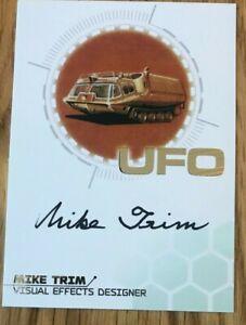 UFO SERIES 3: GOLD FOIL AUTOGRAPH CARD: MIKE TRIM - SPECIAL EFFECTS DESIGNER MT1