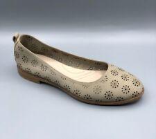 "NEW Clarks ""Alania Rosa"" Ladies Sand Nubuck Flat Shoes UK 3 E"