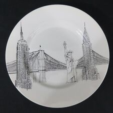 "6 Royal Stafford City Scenes New York Dinner Plates 11"" Liberty Bridge Empire"