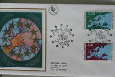 ENVELOPPE PREMIER JOUR SOIE 1991 CONSEIL DE L'EUROPE