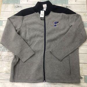 St. Louis Blues Full zip Blue Gray New NHL Jacket Size XL 46/48