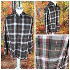 Men's Brown Mix Shirt Size L Large ST MICHAEL M&S Long Sleeve Lumberjack Check