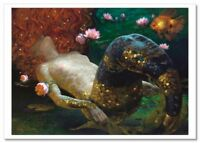 Fantasy Girl Mermaid by Victor Nizovtsev NEW Russian Modern Postcard