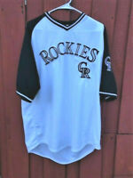 Colorado Rockies Stitches embroidered MLB CR quality pullover t shirt vintage