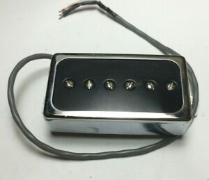 Black & Chrome Humbucker Size P-90 Electric Guitar Pickup - 6.8k