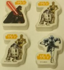 STAR WARS Surprise egg Toys - Erasers X4