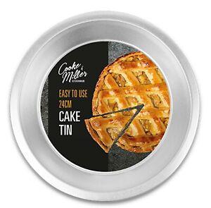 """NON STICK ROUND BAKING PIE CAKE TRAY BAKEWARE KITCHEN 9.5"""" - 24cm PIE FLAN TIN"""