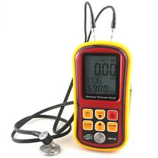 GM130 Ultrasonic Thickness Gauge 1.0~300mm Metal Width Monitor Tester