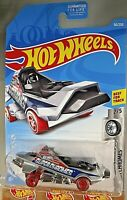 2019 Hot Wheels #50 Super Chromes 2/5 HOVER & OUT Silver w/Red Wheels 5 spoke