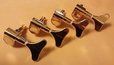 Gold Bass Tuners Tuning Machines Keys Pegs Heads - NEW 4 in line