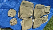 86-89 Mercedes W124 Convertible Front Right & Left Mushroom Leather Seat Covers