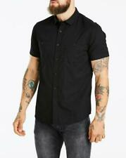 Jacamo Black Military Short Sleeve Shirt Long 4XL