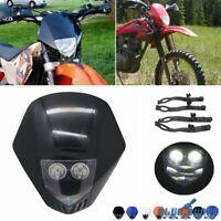 For Kawasaki KLX140 Yamaha WR 450 Dirt Bike Super Motor LED Headlight Head Lamp