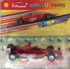 HOT WHEELS FERRARI F2005 SHELL V-POWER SCALE-1:38 RED CARDED MODEL PULL-BACK