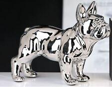 36902 Sculpture VW BUS Bulli Céramique Argent avec argenté collier &