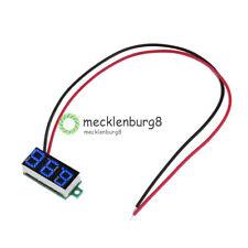 Blue Mini DC 3-30V LED Panel Voltage Meter Display Digital Voltmeter With 2 Wire