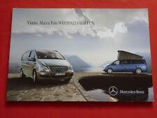 MERCEDES Viano Marco Polo Westfalia und Fun Reisemobil Prospekt von 2010