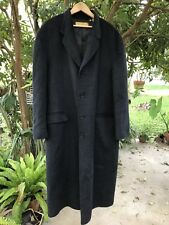 Donna Karan Signature Gold Label Wool Long Dress Coat Trench EUC Black Charcoal